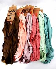 Infinity scarf solid color crinkled fabric double loop Look by M