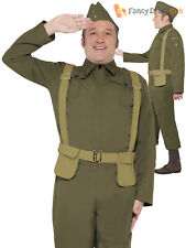 Adults WW2 Home Guard Private Costume Mens Dads Army Fancy Dress Uniform Outfit