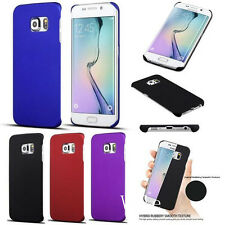 Slim Frosted Hard Plastic Case Cover +LCD Guard For Samsung Galaxy S7 Edge G9350