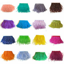 1/5Yards Natural Ostrich Feathers Dyed Fringe Trims DIY Decor 10-15cm/4-6inch