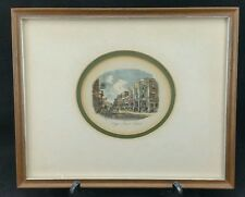 Antique 1870 Framed & Glazed Engraving, Poole High St, 27 x 22cm, Newman & Co
