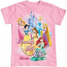 Disney Girl Girls Youth Sparkly Ever after princess tee t shirt tshirt