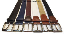 Stretch Elastic Belt with Square Buckle
