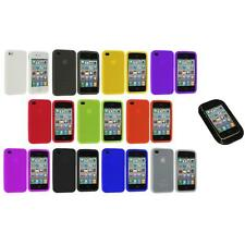 Color Silicone Rubber Gel Skin Case Cover Accessory+Sticky Pad for iPhone 4S 4G