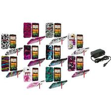 Design Hard Snap-On Case Cover Accessory+Wall Charger for HTC EVO 4G LTE Sprint