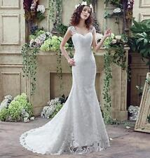 New Lace Wedding Dress Sleeveless Long Bridesmaid Dress Lace Up Back Bridal Gown