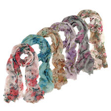 Premium Soft Viscose Flower Floral Print Scarf - Different Colors Available