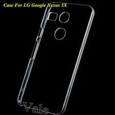 Clear Crystal Hard PC Case Cover Fo LG Google Nexus 5X+Clear/Tempered Glass Film