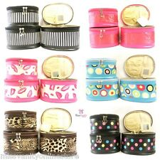 LADIES WOMENS BEAUTY VANITY MAKEUP SET OF 3 SATIN CASES FASHION COSMETIC TRAVEL