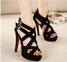 Fashion Cross Strappy Stiletto Pumps Party Shoes Sexy Women High Heels Sandals