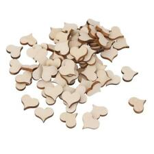 Unfinished Wooden Mini Heart Shape for Weddings Plaques Art Craft Embellishment