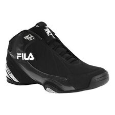 Fila Mens DLS Slam Training Running Basketball Shoes [ Black / White / Silver ]