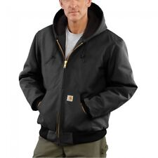 Carhartt J140 Men's Duck Active Jacket Quilted Flannel Lined Black Size XL   USA