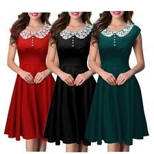 Women Vintage50s Party Prom Rockabilly Swing Elegant Housewife Party Prom Dress