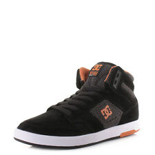 Mens Dc Shoes Nyjah High Se Black Orange Suede High Top Skate Trainers Sz Size