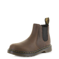 Boy Dr Martens Kids Banzai Dark Brown Wyoming Leather Chelsea Ankle Boot Sz Size