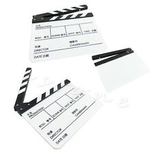 New Acrylic TV Movie Film Clapperboard Cut/Action Clapper Board Slate Clappers