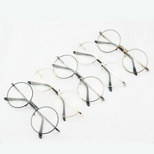New Women Men Plain Glasses Retro Round Vintage Eyeglasses Frame Spectacle