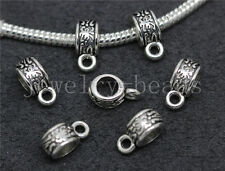 15/60/300pcs Tibetan Silver Bulk Big Hole European Charms Beads Craft 11x6mm New