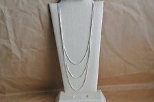 Nickel-Free Sterling Silver Box Chain Necklace (1mm) 1pc