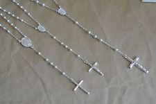 Nickel-Free Sterling Silver Rosary Necklace 1pc