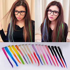"""15.6"""" Gradient Color Hair Extensions Colorful Highlight Rock Clip In Hair Piece"""