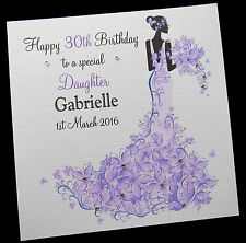 """Personalised Birthday Card Sister Daughter Friend Niece ANY RELATION 6"""" or 8"""" sq"""