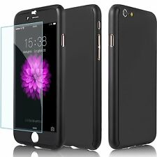Hybrid 360° Hard Ultra thin Case + Tempered Glass Cover For Apple iPhone 6 6s 6+