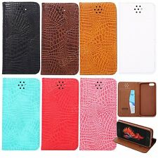 BOYA Luxury PU leather case flip cover card pockets for iphone se 6s samsung s7