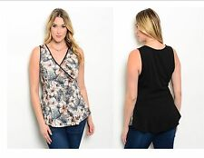 Women Clearance Plus Size Sleeveless Top Blouse Shirt Casual Slim Style V Neck