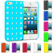 Color Hard Snap-On Design Rubberized Case Skin Cover for Apple iPhone SE