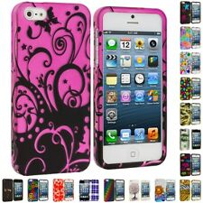 Colorful Design Hard Snap-On Rubberized Case Skin Cover for iPhone SE