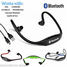 STEREO WIRELESS BLUETOOTH HEADPHONES HEADSET SPORT GYM FOR MOBILE PHONES iPHONE