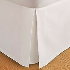 """Solid Bed Skirt 100-Percent Microfiber Pleated Tailored Bedskirt with 14"""" Drop"""