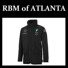 Mercedes Benz AMG Petronas Formula 1 2015 Men's Gray F1 Team Rain Jacket