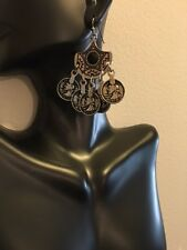 Fashion Jewelry Vintage Retro Boho Dangle Earrings Coin Charms Silver Plate