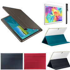 "Leather Case Cover 10.5"" For Samsung Galaxy Tab S T800 +Screen Film +Stylus Pen"