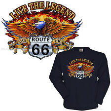 T-Shirt Biker Adler Route 66 Eagle 4307 LS