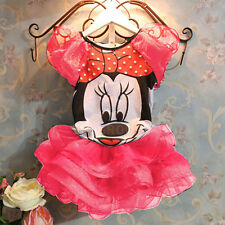 Kids Baby Girls Dress Cute Minnie Mouse Dresses Kids Toddler Dress For 2-7 Years