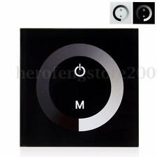 DC 12-24V 8A LED Touch Panel Wall Switch Ring Controller Dimmer