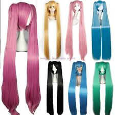UK Lady Long Straight Vocaloid Hatsune Miku Wig Cosplay Party Dress Reusable W36
