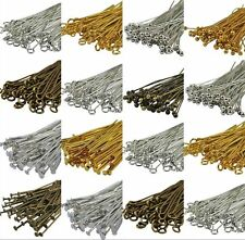 100pcs Head/Eye/Ball Pins Finding 21 Gauge any size to choose Silver Golden