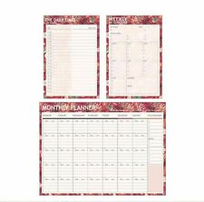 Journal Schedule Planner Note Paper Book Monthly Weekly Daily Times Organizer