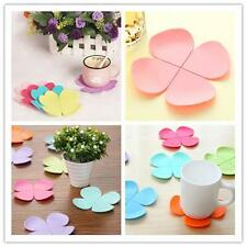 Flower Pattern Drink Coasters Silicone Mug Tea Coffee Cup Table Decor Gift Y