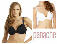 Panache Porcelain Underwired Moulded Plunge Bra 3371 New Womens Lingerie