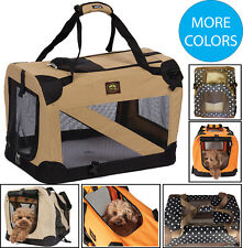 FOLDING ZIPPERED 360° VISTA VIEW DELUXE PET DOG CRATE HOUSE