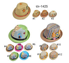 kids fedora hat fancy and cute design fit for age6-13 fashion and model