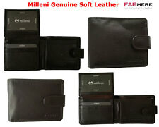 Milleni Mens Genuine Italian Leather Bifold Compact Wallet New C10540