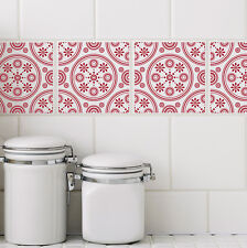6 inch Wall Tile Art Decorative Vinyl Decal Sticker Kitchen Bathroom 6 Colors