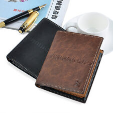 Men's leather Wallet Pockets ID credit Card holder Clutch Bifold money purse HOT